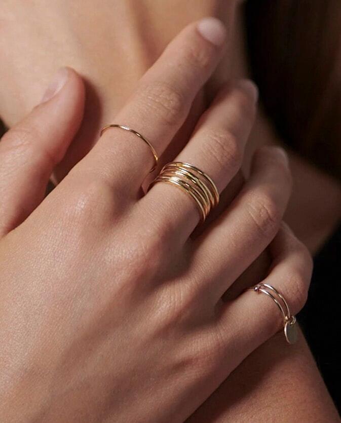 戒指戴法混搭 食指中指位置與尾戒搭配-E&E Project