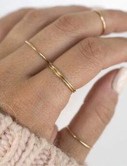 戒指戴法混搭 拇指食指中指位置搭配-Rose Gypsy