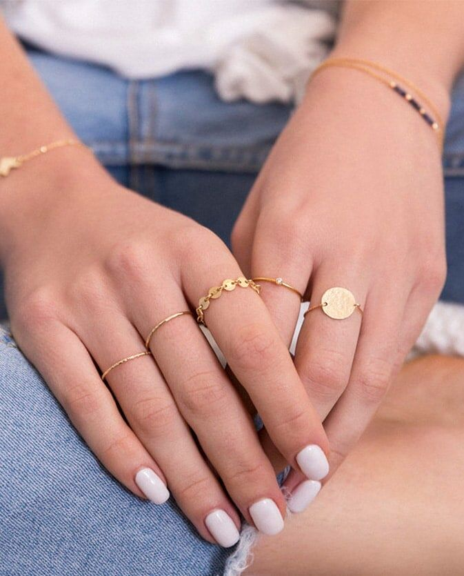 戒指戴法混搭 食指中指無名指位置-Zoaje
